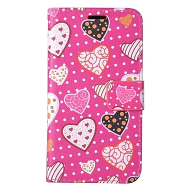 Insten PU Leather Wallet Flip Credit Card Case Cover Image Pouch For LG K20 Plus - Hot Pink Lovely Hearts