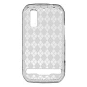 Insten Transparent TPU Rubber Candy Skin Back Case Cover For Motorola Photon 4G - Clear