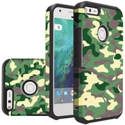 Insten Camouflage Slim Hybrid Dual Layer Hard PC/Silicone Case For Google Pixel - Green/Black