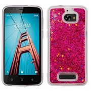Insten Quicksand Glitter Hard Plastic/Soft TPU Rubber Case Cover For Coolpad Defiant - Red