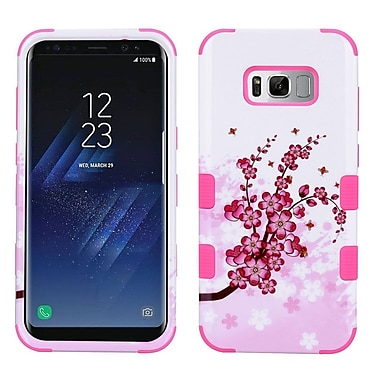 Insten Spring Flowers/Electric Pink TUFF Hybrid Shock Absorbing Hard PC/Silicone Case For Samsung Galaxy S8+ S8 Plus