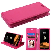 Insten MyJacket Leather Wallet Credit Card Cover Stand Case For LG X Calibur - Hot Pink