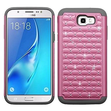 Insten Lattice FullStar Hybrid Hard PC/TPU Case For Samsung Galaxy J7 (2017)/J7 Perx/J7 Sky Pro/J7 V - Pearl Pink/Gray