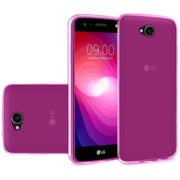 Insten Gel Clear Case For LG X Power 2 - Hot Pink
