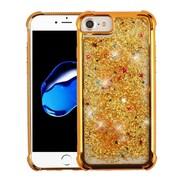 Insten Quicksand Glitter Hard Hybrid Plastic Cover Case For Apple iPhone 6/6s/7 - Gold