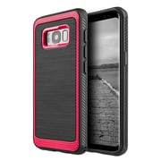 Insten Hybrid Dual Layer PC/TPU Rubber Shockproof Case Cover  For Samsung Galaxy S8 Plus - Red