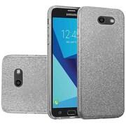 Insten Glitter Hybrid Clear Hard PC/TPU Dual Layer Case Cover For Samsung Galaxy J7 (2017) - Smoke