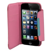 Insten Leather Wallet Credit Card Flip Protective Case Cover For Apple iPhone 5 / 5S - Hot Pink