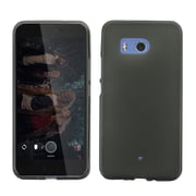 Insten Frosted TPU Rubber Candy Skin Gel Back Case Cover for HTC U11 - Black