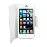 Insten Leather Wallet Credit Card Flip Protective Case Cover For Apple iPhone 5 / 5S - White