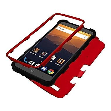 Insten Tuff Dual Layer Hybrid Hard Plastic/Soft TPU Rubber Case Holster For ZTE Blade Max 3/Max XL N9560 - Red/Black