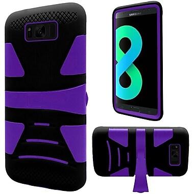 Insten Hybrid U Kickstand PC/TPU Dual Layer Case Cover For Samsung Galaxy S8+ S8 Plus - Purple/Black