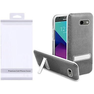 Insten Hybrid Glitter PC/TPU Kickstand Case Cover Package For Galaxy Amp Prime 2/Express Prime 2/J3 (2017) - Smoke/Clear