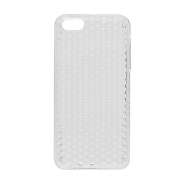 Insten TPU Rubber Hexagonal Transparent Skin Gel Case Cover For Apple iPhone 5 / 5S - Clear