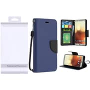 Insten Folio Leather Fabric Cover Case Lanyard w/stand/card slot/Photo Display For LG G6 - Blue