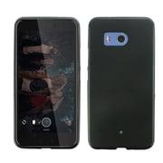 Insten TPU Rubber Candy Skin Back Gel Case Rear Cover for HTC U11 - Black