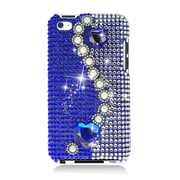 Insten Pearl Rhinestone Diamond Bling Hard Snap-in Case Cover For Apple iPod Touch 4th Gen - Blue
