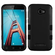 Insten Tuff Dual Layer Hybrid PC/TPU Rubber Case Cover for Coolpad Defiant - Black