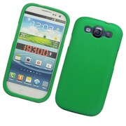 Insten Rubberized Hard Snap-in Protective Back Case Cover For Samsung Galaxy S3 - Green