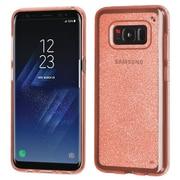 Insten Transparent Sheer Glitter Premium TPU Candy Skin Case For Samsung Galaxy S8+ S8 Plus - Rose Gold