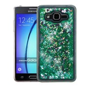 Insten Hearts Quicksand Glitter Hybrid PC/TPU Dual Layer Case For Samsung Galaxy On5 - Green