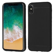 Insten Rubber Lattice Points Candy Skin Case Cover For Apple iPhone X - Black