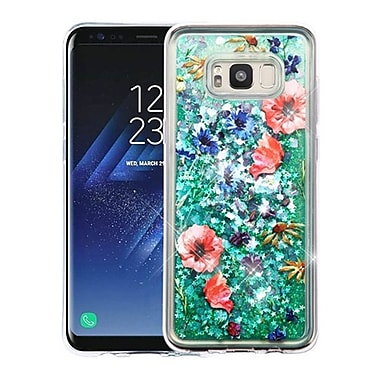 Insten Watercolor Flowers Quicksand (Hearts) Glitter Hybrid PC/TPU Case For Samsung Galaxy S8 - Colorful