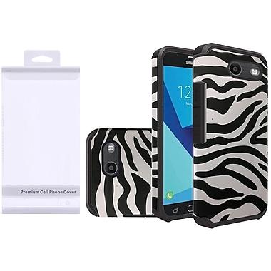 Insten Zebra Rubberized Slim Premium Hybrid Hard Case with Package For Samsung Galaxy J7 (2017)/J7 Perx/J7 Sky Pro/J7 V