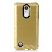 Insten Brushed Metal Hybrid Hard PC/TPU Dual Layer Cover Case For LG Aristo / K8 (2017) / LV3 - Gold