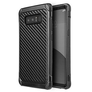 Insten Carbon Fiber Dual Layer Hybrid PC/TPU Rubber Case Cover for Samsung Galaxy Note 8 - Black