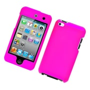 Insten Hard Snap On Back Rubber Protective Case Cover For Apple iPod Touch 4th Gen - Hot Pink