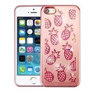 Insten Pineapple Quicksand Glitter Hard PC Hybrid Case for Apple iPhone SE / 5 / 5S - Rose Gold