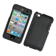 Insten Hard Snap On Back Rubber Protective Case Cover For Apple iPod Touch 4th Gen - Black