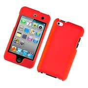 Insten Hard Snap On Back Rubber Protective Case Cover For Apple iPod Touch 4th Gen - Red