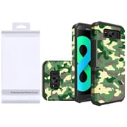 Insten Camouflage Hard Dual Layer Rubberized Cover Case For Samsung Galaxy S8 Plus - Green