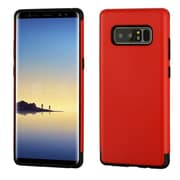 Insten Dual Layer Hybrid PC/TPU Rubber Case Cover for Samsung Galaxy Note 8 - Red
