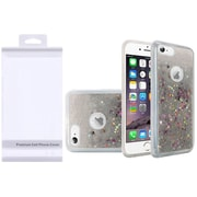 Insten Liquid Quicksand Glitter Fused Flexible Hybrid Case with Package For Apple iPhone 6 / 6s - Silver