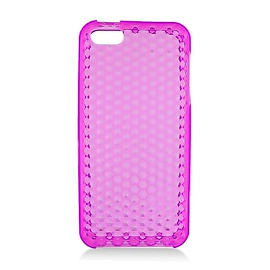 Insten TPU Rubber Hexagonal Transparent Skin Gel Case Cover For Apple iPhone 5 / 5S - Pink