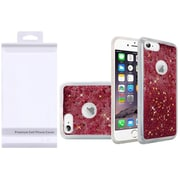 Insten Liquid Quicksand Glitter Fused Flexible Hybrid Case with Package For Apple iPhone 6 / 6s - Hot Pink