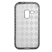 Insten Rhombus Crystal Transparent TPU Rubber Candy Skin Case For Samsung Galaxy Attain 4G - Smoke