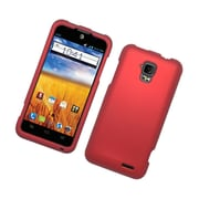 Insten Rubberized Hard Snap On Protective Case Cover For ZTE Mustang - Red