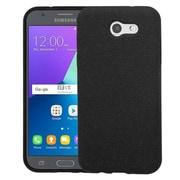 Insten Frosted SPOTS TPU Gel Back Case For Samsung Galaxy Amp Prime 2/Express Prime 2/J3 (2017)/J3 Emerge - Black