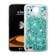 Insten Quicksand Hearts Glitter Hybrid Hard Snap-in Case Cover For LG V9 - Green