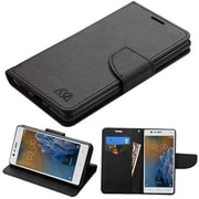 Insten Liner MyJacket Leather Wallet Card Flip Stand Case For Nokia 3 - Black