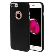 Insten TPU Candy Skin Case Cover with Electroplating Accents For Apple iPhone 7 Plus - Black