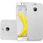 Insten Hybrid Clear PC/TPU Glitter Dual Layer Case Cover For HTC Bolt - Silver