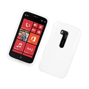 Insten Rubberized Hard Snap On Protective Case Cover For Nokia Lumia 822 - White