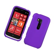 Insten Rubberized Hard Snap On Protective Case Cover For Nokia Lumia 822 - Purple