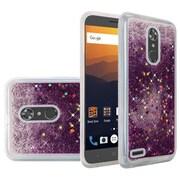 Insten Quicksand Hard Glitter TPU Case For ZTE Max XL N9560 - Purple