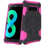 Insten SuperCoil Hybrid Hard Premium Kickstand Cover Case For Samsung Galaxy S8+ S8 Plus - Black/Hot Pink